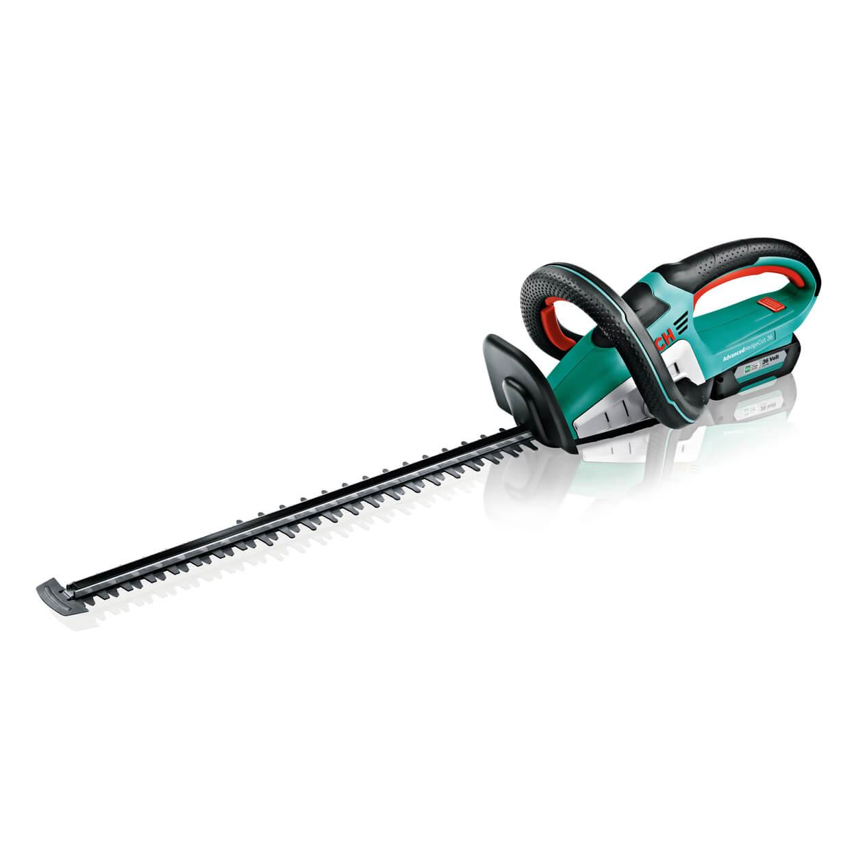 "bosch advancedhedgecut 36 36cm (14"") cordless hedge trimmer - handy"